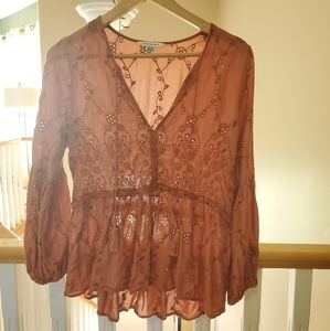American Eagle Outfitters rust colored tunic